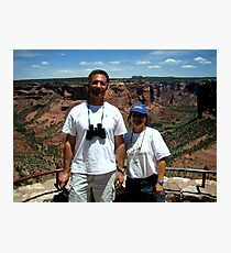 Peter and Laurie at Spider Rock, Arizona Photographic Print
