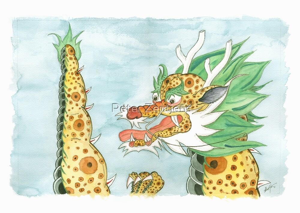 Korean Dragon I by Peter Zentjens