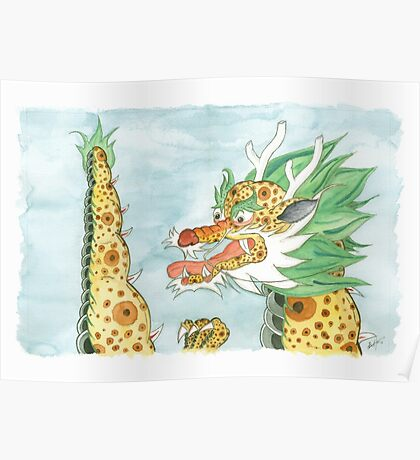 Korean Dragon I Poster