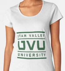 10641c457 Utah Valley University Premium Scoop T-Shirt