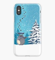 Totoro on the Snow iPhone Case