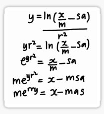 Christmas Greeting for Mathematicians Sticker