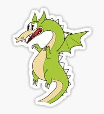 Cuphead Grim Matchstick (dragon) Sticker