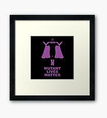 Mutant Lives Matter - Magneto Framed Print