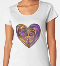 Psychedelic Hearts Tunnel Women's Premium T-Shirt