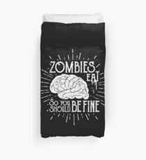 Zombies Eat Brains Duvet Cover