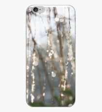 Sparkling ice crystals on weeping willow iPhone Case