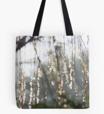 Sparkling ice crystals on weeping willow Tote Bag