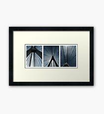 The Anzac Bridge - triptych Framed Print
