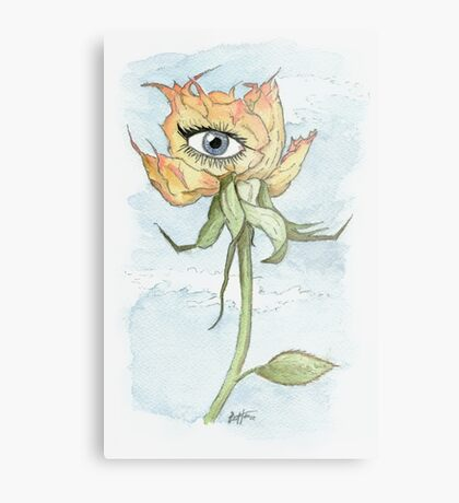 drEyed Rose Metal Print