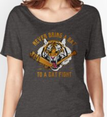 Never Bring A Bat To A Cat Fight Shirts Women's Relaxed Fit T-Shirt