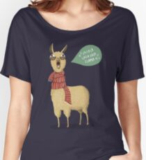 Holiday Llama Women's Relaxed Fit T-Shirt