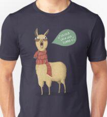 Christmas holiday Llama Slim Fit T-Shirt