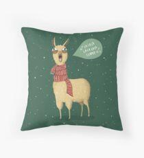 Holiday Llama Throw Pillow