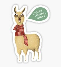Holiday Llama Sticker