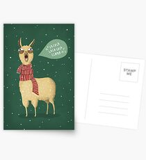 Holiday Llama Postcards