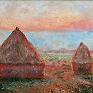 Haystacks - Tom Godfrey after Monet by Tom Godfrey