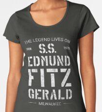 Camiseta premium para mujer La leyenda vive de las SS Edmund Fitzgerald