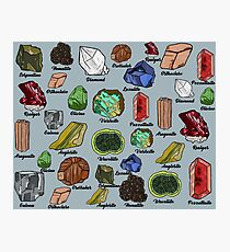 Minerals Photographic Print