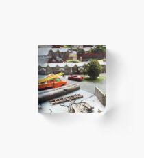 Builders Toy Van  Acrylic Block