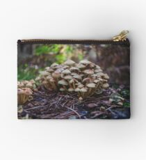 Woodland fairy mushrooms in Thetford forest, England Studio Pouch