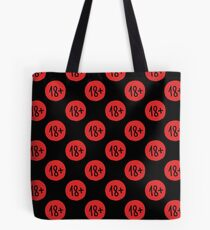 age restriction sign seamless doodle pattern Tote Bag