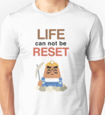 LIFE can not be RESET! Animal Crossing UniQlo Resetti Shirt Unisex T-Shirt