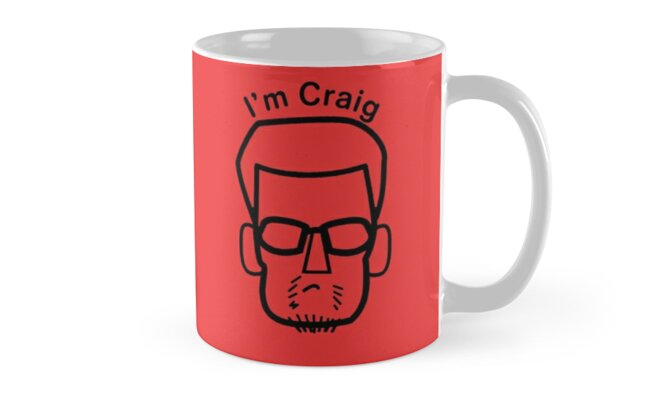 I'm Craig (black lines)  by tvcream