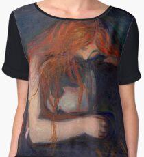 "Edvard Munch ""Vampire"", 1895 Chiffon Top"