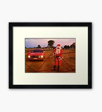 Santa at the gate Framed Print