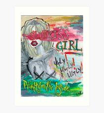 Slutkiss Girl Art Print