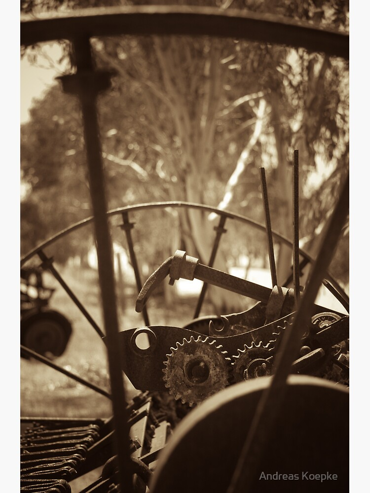 Rusting farm equipment - sepia by mistered