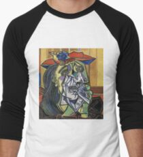 The Weeping Woman-Pablo Picasso Men's Baseball ¾ T-Shirt