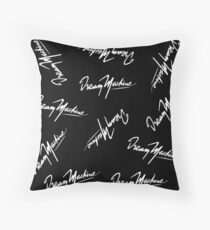 "Black ""DREAM MACHINE"" inspired typography Throw Pillow"