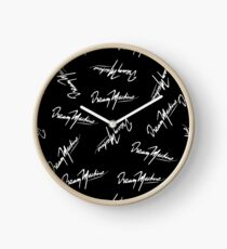 "Black ""DREAM MACHINE"" inspired typography Clock"