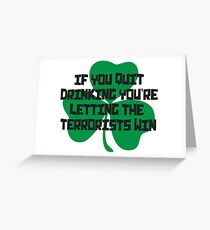 Irish Drinking Shirt Greeting Card