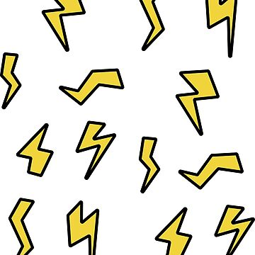 Lightning Bolt Flash Repeating Pattern by bFred