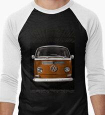 Volkswagen kombi camper Orange Men's Baseball ¾ T-Shirt