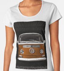 Volkswagen kombi camper Orange Women's Premium T-Shirt