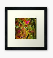 Butterfly Lady Framed Print