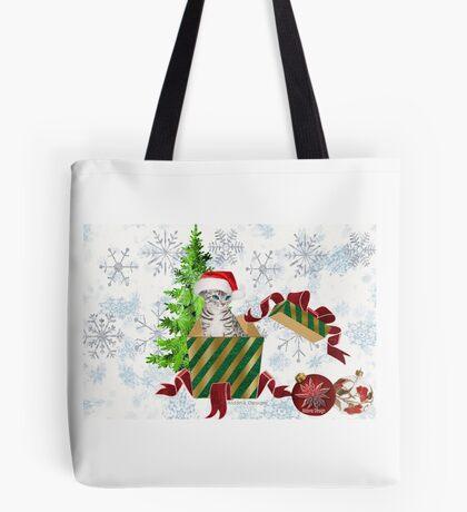 Christmas Cat  (6640 Views) Tote Bag