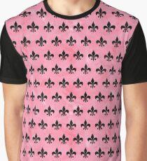 ROYAL1 BLACK MARBLE & PINK WATERCOLOR (R) Graphic T-Shirt