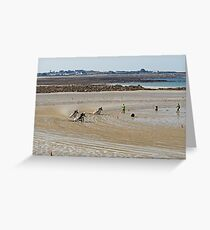 Bikes on the Sand Greeting Card