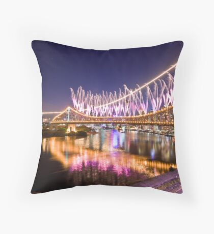 Riverfire 2008 Begins - Blue Version Throw Pillow