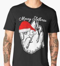 Merry Slothmas Funny Sloth Lover Christmas Item Men's Premium T-Shirt