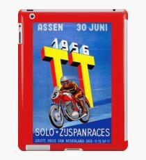 """""""ASSEN TT MOTORCYCLE"""" Vintage Racing Advertising Print iPad Case/Skin"""