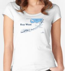 Key West.  Women's Fitted Scoop T-Shirt