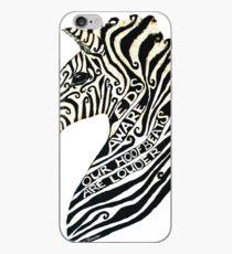 Ehlers Danlos Syndrome Zebra iPhone Case