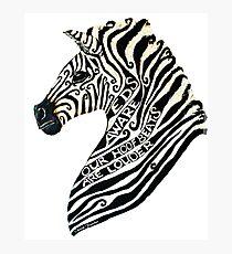 Ehlers Danlos Syndrome Zebra Photographic Print