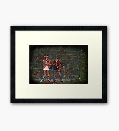 busted Framed Print